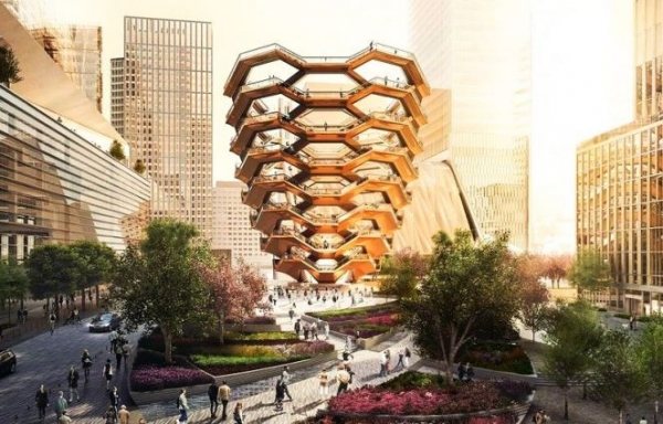 777c1e7e4c0550047e702b32cf9cca08 - Бесконечная лестница-сосуд «Vessel» — новая достопримечательность Нью-Йорка, США