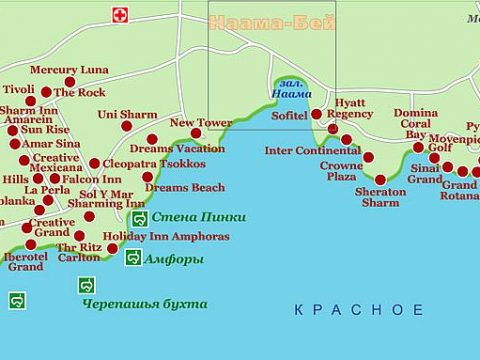 karta sharm el shejkha na russkom yazyke 480x360 - Карта отелей